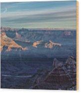Sunrise Over The Grand Canyon Wood Print