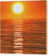 Sunrise Over The Lake 2 Wood Print
