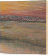 Sunrise Over The Marsh Part II Wood Print