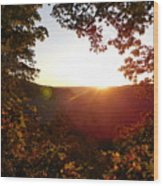 Sunrise Over The Mountain  Wood Print