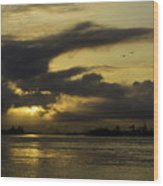 Sunrise Over The Ninth Ward Wood Print