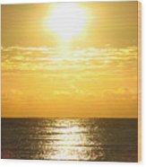 Sunrise Over The Ocean8833 Wood Print