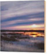 Sunrise Over The Salt Marsh Wood Print