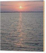 Sunrise Over The Sea Horizon Wood Print
