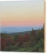 Sunrise Over The Shenandoah Valley Wood Print