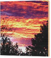 Sunrise Over The S.p. Wood Print