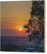 Sunrise Over The Valley Wood Print