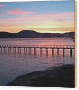 Sunrise Over Tomales Bay Wood Print