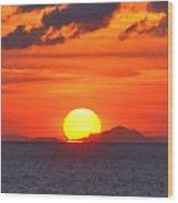 Sunrise Over Western Cuba Wood Print