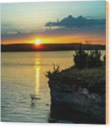 Sunrise Over Wilson Lake Wood Print