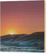 Sunrise Peeking Wood Print