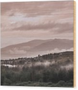 Sunrise Pink Over Tlacolula Valley Wood Print