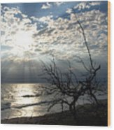 Sunrise Prayer On The Beach Wood Print