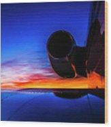 Sunrise Pre Flight Wood Print