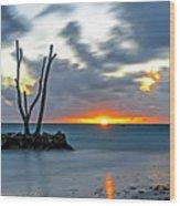 Sunrise Punta Cana Wood Print