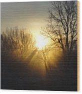 Sunrise Rays Wood Print