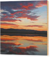 Sunrise Refection Wood Print