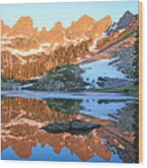 Sunrise Reflection At Willow Lakes Wood Print