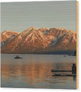 Sunrise Reflections On Colter Bay Wood Print