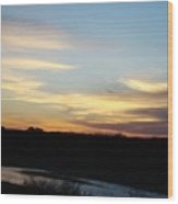 Sunrise River Three Wood Print
