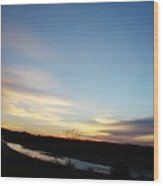Sunrise River Two Wood Print