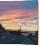 Sunrise Road Wood Print