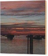 Sunrise Rye Nh Wood Print
