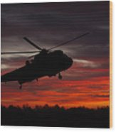 Sunrise Search And Rescue Wood Print