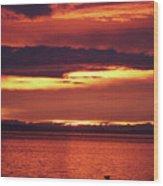 Sunrise Sekiu Washington Wood Print