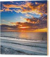 Sunrise Serenades The Beach Wood Print
