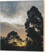 Sunrise Silhouettes Wood Print