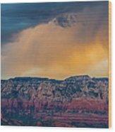 Sunrise Storm Over Sedona Wood Print