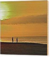 Sunrise Stroll Wood Print