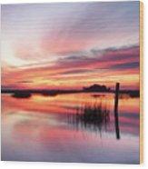 Sunrise Sunset Art Photo - Sailing By Jo Ann Tomaselli    Wood Print