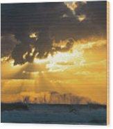 Sunrise Surf Spray Delray Beach Florida Wood Print