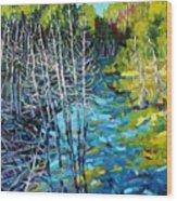 Sunrise Swamp Wood Print