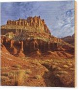 Sunrise The Castle Capitol Reef National Park Utah Wood Print