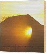 Sunrise Though Barn Wood Print