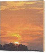 Sunrise Through Clouds 2451 Wood Print
