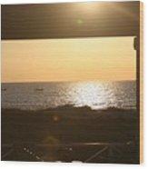 Sunrise Through The Pavilion Wood Print