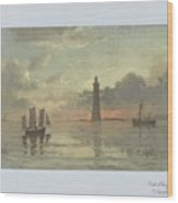 Sunrise To Painting By Frederick C. Sorensen, Anonymous, After Carl Frederik Sorensen, 1868 - 1876 Wood Print
