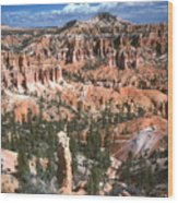 Sunrise Trail Bryce Canyon Wood Print
