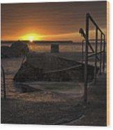 Sunrise Tramore Wood Print