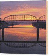 Sunrise Walnut Street Bridge 2 Wood Print by Tom and Pat Cory