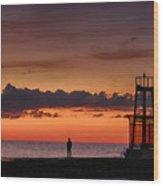 Sunrise Watcher Wood Print
