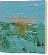 Sunrise With Gulls Wood Print