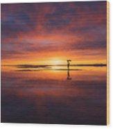 Sunrise Yoga Wood Print