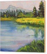 Sunriver Wood Print