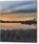 Sunrise On A Frosty Marsh Wood Print