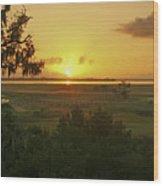 Sun's Up Wood Print